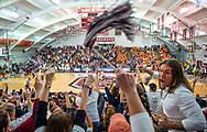 Colgate takes on Bucknell in men's basketball for the Patriot League Championship at Cotterell Court, March 13, 2019. Colgate went on to defeat Bucknell 94-80.<br /> Mark DiOrio / Colgate University