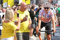 July 8, 2019 - Binche, Belgium - Belgian Greg Van Avermaet of CCC Team wearing the red polka-dot jersey, pictured ahead of the start of the third stage of the 106th edition of the Tour de France cycling race, a 215 km from Binche in Belgium to Epernay in France, Monday 08 July 2019. This year's Tour de France starts in Brussels and takes place from July 6th to July 28th. (Credit Image: © David Stockman/Belga via ZUMA Press)