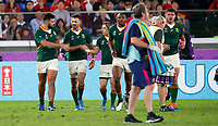 Rugby Union - 2019 Rugby World Cup - Semi-Final: Wales vs. South Africa<br /> <br /> Damian de Allende of South Africa celebrate his try at International Stadium Yokohama, Kanagawa Prefecture, Yokohama City.<br /> <br /> COLORSPORT/LYNNE CAMERON