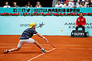 Diego Schwartzman of Argentina in action during the Mutua Madrid Open 2018, tennis match on May 9, 2018 played at Caja Magica in Madrid, Spain - Photo Oscar J Barroso / SpainProSportsImages / DPPI / ProSportsImages / DPPI