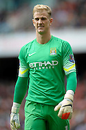 Manchester City's goalkeeper Joe Hart looks on. Barclays Premier league match, Arsenal v Manchester city at the Emirates Stadium in London on Saturday 13th Sept 2014.<br /> pic by John Patrick Fletcher, Andrew Orchard sports photography.