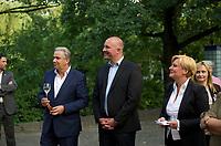 DEU, Deutschland, Germany, Berlin, 14.08.2013:<br />Frauenpolitischer Empfang der Berliner SPD im Zoo-Restaurant des Zoologischen Gartens. V.l.n.r. Klaus Wowereit (SPD), Regierender Bürgermeister von Berlin, Jan Stöß (SPD), Vorsitzender des SPD-Landesverbandes Berlin, Dr. Eva Högl, MdB (SPD), Spitzenkandidatin der Berliner SPD für die Bundestagswahl.