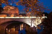 Tiber River, Castel Sant'Angelo.  Rome, Italy.