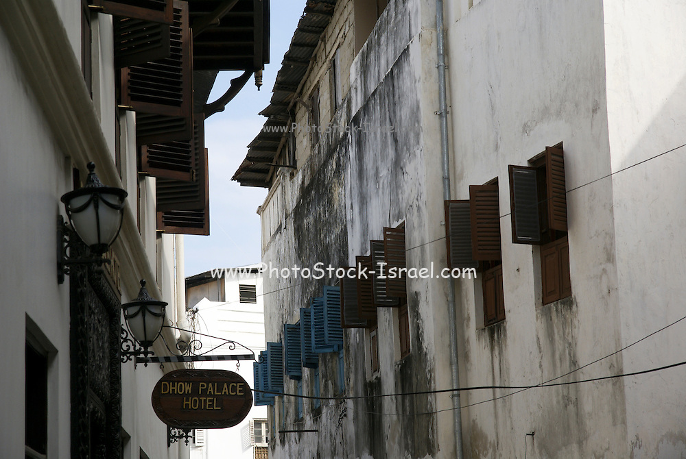 Tanzania, Zanzibar, Zanzibar City on Unguja island Dhow Palace hotel in stone town