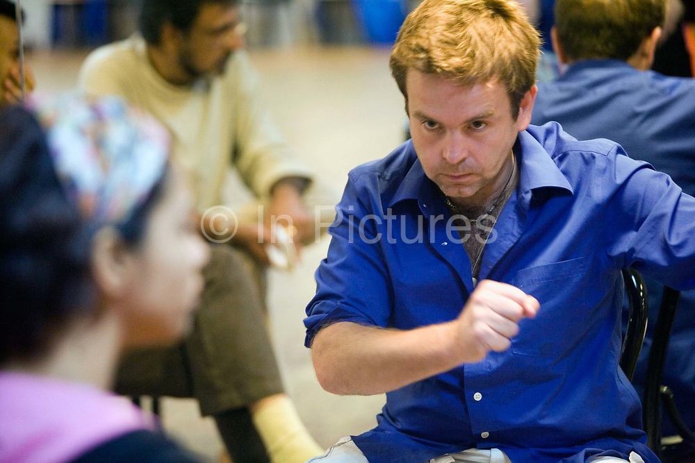 Writer and Director Toby Gough in rehearsals for the Merchants of Bollywood at the Yash Raj Studios in Mumbai (Bombay), India<br /> <br /> The Merchants of Bollywood, An Indian theatrical dance musical, charts the history of the world's largest and most prolific film industry, and is loosely based on the showbusiness, Merchant family. Seen by over two million people worldwide, the show is homage to the world of Indian cinema.