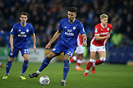 Marko Grujic of Cardiff City in action. EFL Skybet championship match, Cardiff city v Barnsley at the Cardiff city stadium in Cardiff, South Wales on Tuesday 6th March 2018.<br /> pic by Andrew Orchard, Andrew Orchard sports photography.