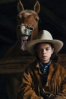 Yo and his quarter horse.