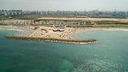 Aerial Photography of the Coastline of Herzliya, in Central Israel