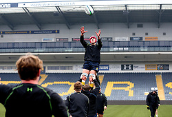 James Scott (Malvern College) of Worcester Warriors U18 catches the ball during line out practice - Mandatory by-line: Robbie Stephenson/JMP - 22/01/2017 - RUGBY - Sixways Stadium - Worcester, England - Worcester Warriors U18 v Northampton Saints U18 - Premiership Rugby U18 Academy League