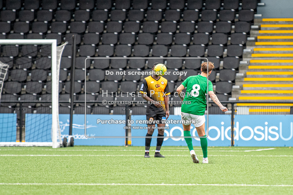 BROMLEY, UK - SEPTEMBER 22: The Emirates FA Cup Second Round Qualifier match between Cray Wanderers and Soham Town Rangers at Hayes Lane on September 22, 2019 in Bromley, UK. <br /> (Photo: Jon Hilliger)
