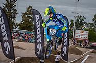 #100 (MAHIEU Romain) FRA at the 2016 UCI BMX Supercross World Cup in Santiago del Estero, Argentina