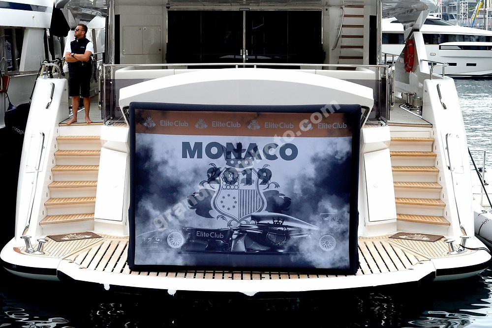 Yacht before the 2019 Monaco Grand Prix. Photo: Grand Prix Photo