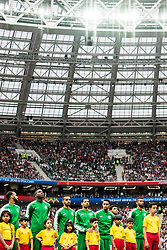 June 14, 2018 - Moscow, Russia - 180614 The players of Saudi Arabia during lineup prior the FIFA World Cup group stage match between Russia and Saudi Arabia on June 14, 2018 in Moscow..Photo: Petter Arvidson / BILDBYRN / kod PA / 92065 (Credit Image: © Petter Arvidson/Bildbyran via ZUMA Press)