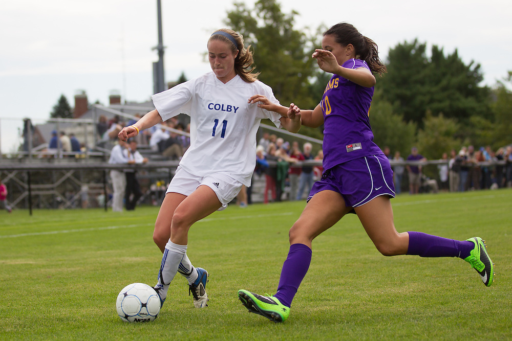Maddie Tight, of Colby College, in an NCAA Division III college soccer game against Williams College at Colby College, Saturday Sept. 7, 2012 in Waterville, ME. (Dustin Satloff/Colby College Athletics)