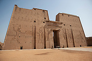 First pylon in the Horus Temple complex, Edfu, Egypt
