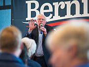 30 DECEMBER 2019 - WEST DES MOINES, IOWA: US Senator BERNIE SANDERS (Ind-VT) speaks during a campaign brunch at NOAH's Event Center in West Des Moines, a suburb of Des Moines. Sen. Sanders is in Iowa campaigning to be the Democratic presidential nominee in 2020. Iowa hosts the first selection event of the presidential election cycle. The Iowa Caucuses are Feb. 3, 2020.        PHOTO BY JACK KURTZ