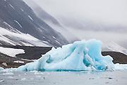 A large iceberg on the coast in Hornsund, Svalbard.