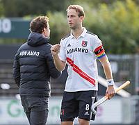 AMSTELVEEN - Billy Bakker (a) (Amsterdam) na  de    hoofdklasse hockeywedstrijd mannen,  AMSTERDAM-PINOKE (1-3) , die vanwege het heersende coronavirus zonder toeschouwers werd gespeeld. COPYRIGHT KOEN SUYK