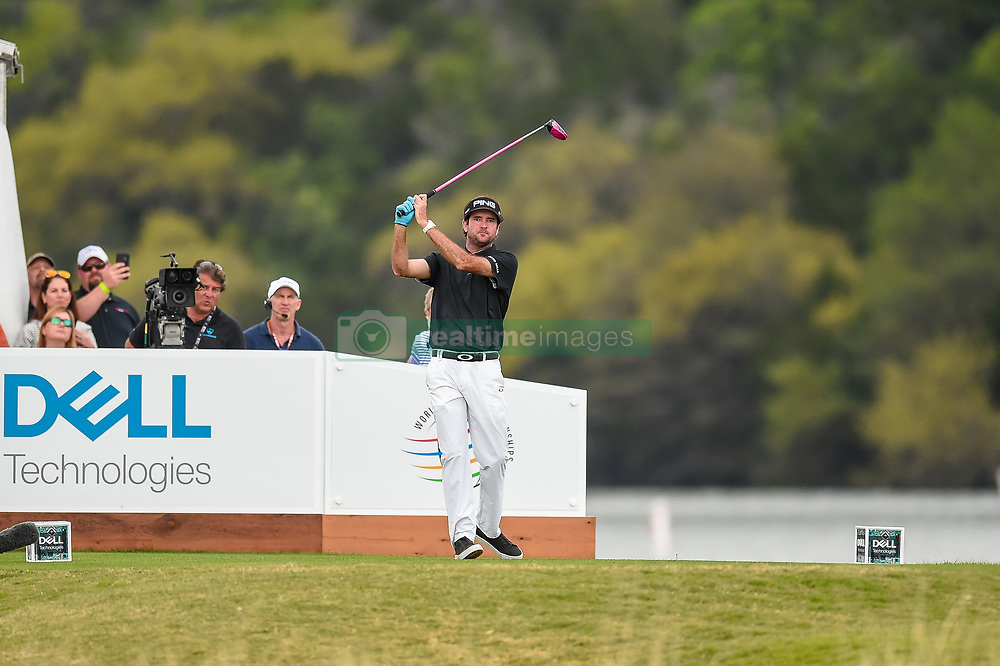 March 25, 2018 - Austin, TX, U.S. - AUSTIN, TX - MARCH 25: Bubba Watson tees off at the 14th hole during the semifinals match of the WGC-Dell Technologies Match Play on March 25, 2018 at Austin Country Club in Austin, TX. (Photo by Daniel Dunn/Icon Sportswire) (Credit Image: © Daniel Dunn/Icon SMI via ZUMA Press)