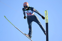 01.01.2020, Olympiaschanze, Garmisch Partenkirchen, GER, FIS Weltcup Skisprung, Vierschanzentournee, Garmisch Partenkirchen, im Bild Karl Geiger belegt beim zweiten Springen der, Vierschanzen Tournee 19, 20 in Garmisch den 2. Platz und freut sich riesig // during the Four Hills Tournament of FIS Ski Jumping World Cup at the Olympiaschanze in Garmisch Partenkirchen, Germany on 2020/01/01. EXPA Pictures © 2019, PhotoCredit: EXPA/ SM<br /> <br /> *****ATTENTION - OUT of GER*****
