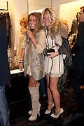 ANNA SCOLARO; ALANA SCOLARO, Party to celebrate the launch of the new Cavalli Store. Roberto Cavalli. Sloane st. London. 17 September 2011. <br /> <br />  , -DO NOT ARCHIVE-© Copyright Photograph by Dafydd Jones. 248 Clapham Rd. London SW9 0PZ. Tel 0207 820 0771. www.dafjones.com.