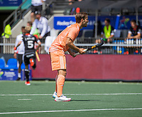 AMSTELVEEN -  Jeroen Hertzberger (Ned) EK hockey, finale Nederland-Duitsland 2-2. mannen.  Nederland wint de shoot outs en is Europees Kampioen.  COPYRIGHT KOEN SUYK