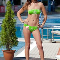 Julianna Horvath participates the Miss Bikini Hungary beauty contest held in Budapest, Hungary on August 29, 2010. ATTILA VOLGYI