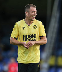 Jed Wallace of Millwall sees the funny side as Nathan Ralph of Southend United scores an own goal to make it 0-1 - Mandatory by-line: Arron Gent/JMP - 24/07/2019 - FOOTBALL - Roots Hall - Southend-on-Sea, England - Southend United v Millwall - pre season friendly
