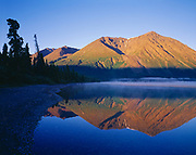 Morning reflection of the Saint Elias Mountains in Kathleen Lake, Kluane National Park Reserve, Yukon Territory, Canada.