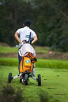 HILVERSUM - Jerry Ji (Neth) Netherlands vs Austria  for place 5.)2-1)  Jerry Ji wins after 19 holes.  ELTK Golf 2020 The Dutch Golf Federation (NGF), The European Golf Federation (EGA) and the Hilversumsche Golf Club will organize Team European Championships for men.  COPYRIGHT KOEN SUYK