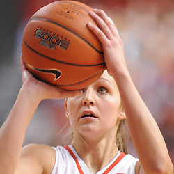 Mar 2, 2009; Piscataway, NJ, USA; Rutgers forward Heather Zurich (21) lines up a free throw during the second half of Rutgers game against nationally rated #1 Connecticut at the Louis Brown Athletic Center.  Connecticut won 69-59 to finish their regular season a perfect 30-0.