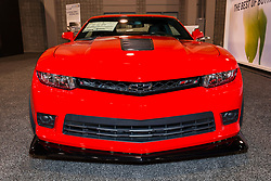CHARLOTTE, NORTH CAROLINA - NOVEMBER 20, 2014: Chevrolet Camaro Z28 on display during the 2014 Charlotte International Auto Show at the Charlotte Convention Center.