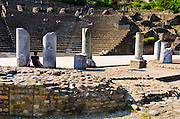 The Roman theater on Fourvière Hill, Lyon, France (UNESCO World Heritage Site)