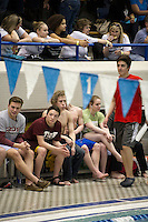 NHIAA Division I swim and diving championship meet at UNH Swasey Pool Sunday, February 10, 2013.  Karen Bobotas/for the Concord Monitor