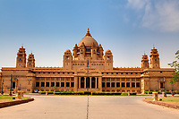 Umaid Bhawan palace hotel in the beautiful city of jodhpur in rajasthan state in india