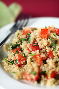 Quinoa with tomatoes and chives in the studio on Tuesday Sept. 20, 2011. <br /> <br /> Lisa Schumacher stylist<br /> <br />  (William DeShazer/Chicago Tribune) B581556573Z.1<br /> ....OUTSIDE TRIBUNE CO.- NO MAGS,  NO SALES, NO INTERNET, NO TV, NEW YORK TIMES OUT, CHICAGO OUT, NO DIGITAL MANIPULATION...