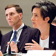 """Jacqueline Maguire, Special Agent, FBI. Panel: """"Outline of the 9/11 Plot."""" The 9/11 Commission's 12th public hearing on """"The 9/11 Plot"""" and """"National Crisis Management"""" was held June 16-17, 2004, in Washington, DC."""