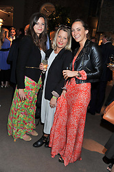 Left to right, LADY NATASHA RUFUS-ISAACS, DAVINA HARBORD and LAVINIA BRENNAN at the launch party for Spectator Life hosted by Andrew Neil at Asprey, 167 New Bond Street, London on 28th March 2012.