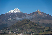 The Illinizas<br /> Pair of volcanic mountains that are located to the south of Quito<br /> Illiniza South is 5248m & Illiniza north 5126m & separated by saddle of 1km long<br /> Illinizas Ecological Reserve<br /> Andes<br /> ECUADOR, South America