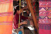 Lao Textile Natural Dye shop and workshop in Luang Prabang, Laos.