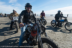 Rick Petko of Orange County Choppers on his 1947 Harley-Davidson WL Flathead at the Race of Gentlemen. Wildwood, NJ, USA. October 10, 2015.  Photography ©2015 Michael Lichter.