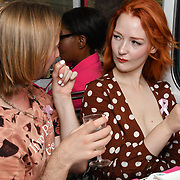 Victoria Clay attend Brigits Bakery host their Pink Ribbon Afternoon Tea in aid of the Pink Ribbon Foundation, London, UK. 16 October 2018.