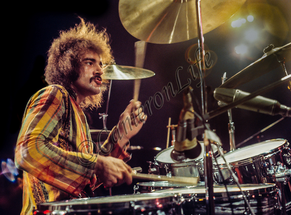Clive Bunker (Jethro Tull) - Isle of Wight Music Festival 1970, by Charles Everest.