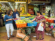 05 JUNE 2015 - KUALA LUMPUR, MALAYSIA: Fresh fruit and vegetables sold at an Indian grocery store in the Little India section of Kuala Lumpur.     PHOTO BY JACK KURTZ