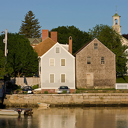 The South End in Portsmouth, New Hampshire. Piscataqua River.