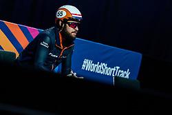 Sjinkie Knegt of Netherlands before the 500 meter during ISU World Short Track speed skating Championships on March 05, 2021 in Dordrecht