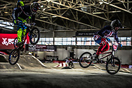 #24 (SHARRAH Corben) USA at the 2016 UCI BMX Supercross World Cup in Manchester, United Kingdom<br /> <br /> A high res version of this image can be purchased for editorial, advertising and social media use on CraigDutton.com<br /> <br /> http://www.craigdutton.com/library/index.php?module=media&pId=100&category=gallery/cycling/bmx/SXWC_Manchester_2016