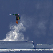 Devin Logan, USA, in action in the Women's  Slopestyle Finals during The North Face Freeski Open at Snow Park, Wanaka, New Zealand, 2nd September 2011. Photo Tim Clayton...