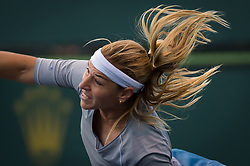 March 8, 2019 - Indian Wells, USA - Dominika Cibulkova of Slovakia in action during her second-round match at the 2019 BNP Paribas Open WTA Premier Mandatory tennis tournament (Credit Image: © AFP7 via ZUMA Wire)