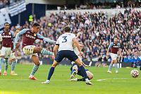 Football - 2021 / 2022 Premier League - Tottenham Hotspur vs Aston Villa - Tottenham Hotspur Stadium - Sunday 3rd October 2021<br /> <br /> Jacob Ramsey (Aston Villa) with a shot at the Tottenham goal <br /> <br /> COLORSPORT/DANIEL BEARHAM
